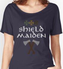 Camiseta ancha para mujer Doncella escudo