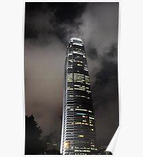 Hong Kong Monetary Authority Tower at night Poster