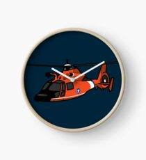 USCG HH65 Helicopter Clock
