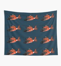 USCG HH65 Helicopter Wall Tapestry