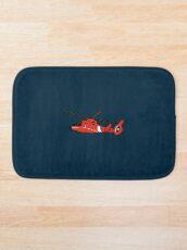 US Coast Guard HH-65 Dolphin Bath Mat
