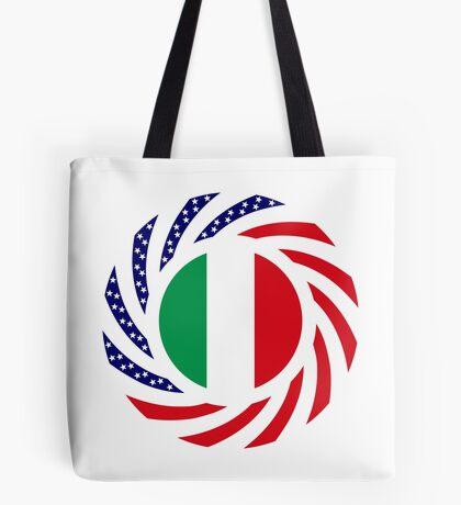 Italian American Multinational Patriot Flag Series Tote Bag