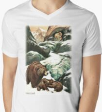 A MOUNTAIN CAVE WHICH NO PERSON HAD EVER SEEN from the story THE GOLDEN HORDE in The Russian Story Book V-Neck T-Shirt