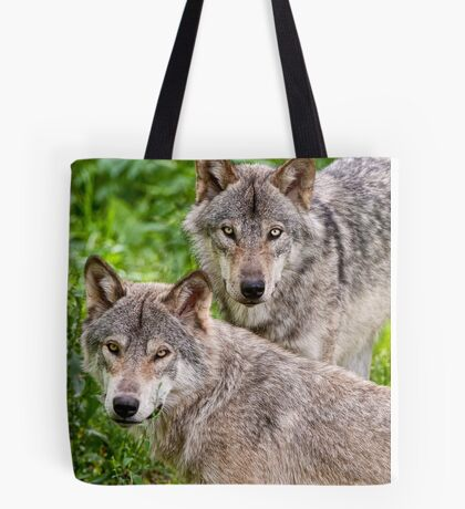 Timberwolf Pair Tote Bag