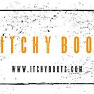 Itchy Boots - Boot Print Orange  by ItchyBoots