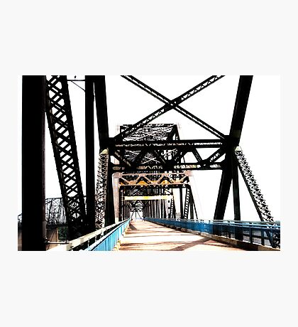 chain of rocks bridge, route 66 Photographic Print