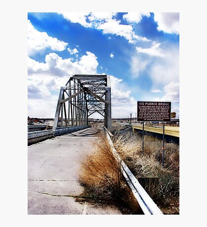 rio puerco bridge, route 66, new mexico Photographic Print