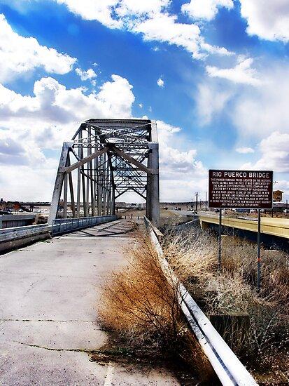 rio puerco bridge, route 66, new mexico by brian gregory