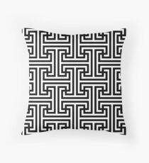 Geometric Swastika Pattern  Throw Pillow