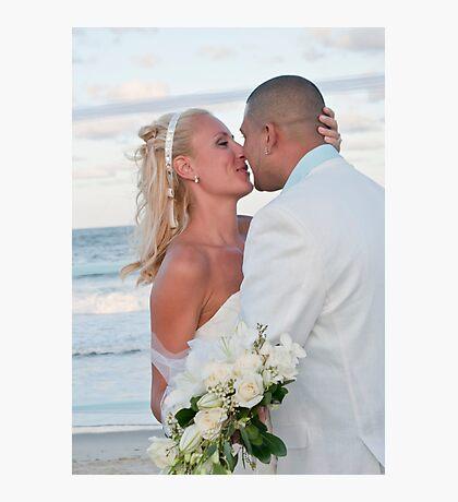 Wedding on the beach Photographic Print