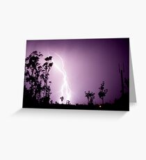 electric skys 1 Greeting Card