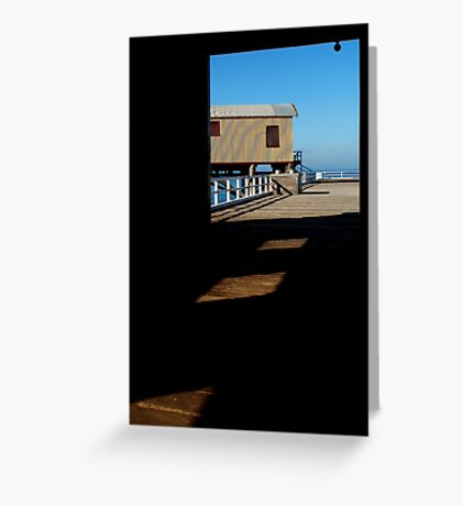 Boat Sheds Greeting Card