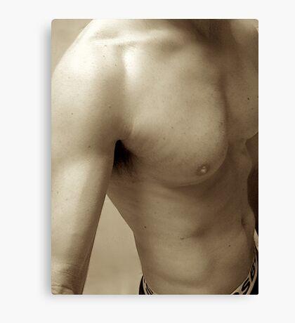 sepia torso Canvas Print