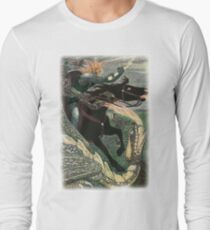 FALCON THE HUNTER from the story ILYA AND FALCON THE HUNTER in the book The Russian Story Book Long Sleeve T-Shirt