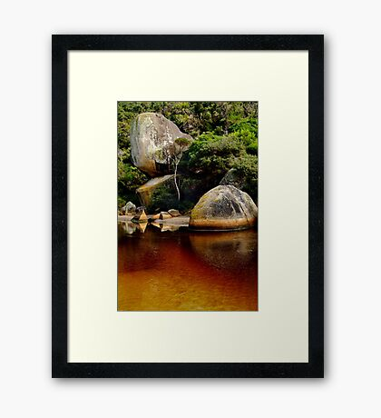Tea Tree Stained Waters of Tidal River Framed Print