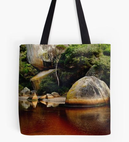Tea Tree Stained Waters of Tidal River Tote Bag