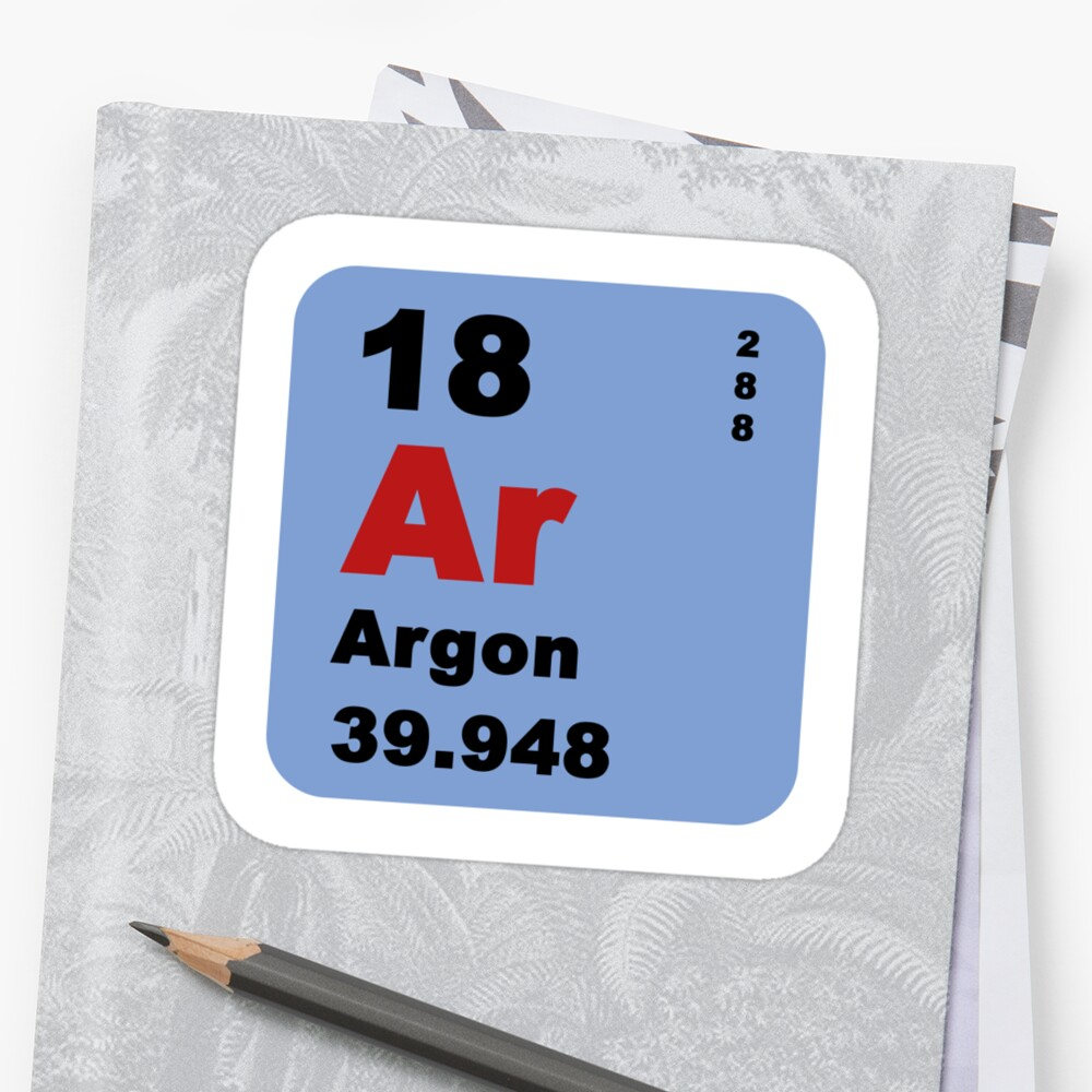 Periodic table of elements no 18 argon stickers by walterericsy periodic table of elements no 18 argon by walterericsy gamestrikefo Choice Image