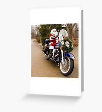 Harley Santa Greeting Card