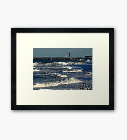 The Harbour Whitby Framed Print