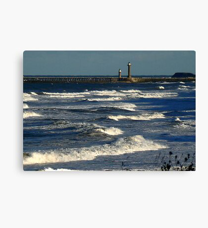 The Harbour Whitby Canvas Print