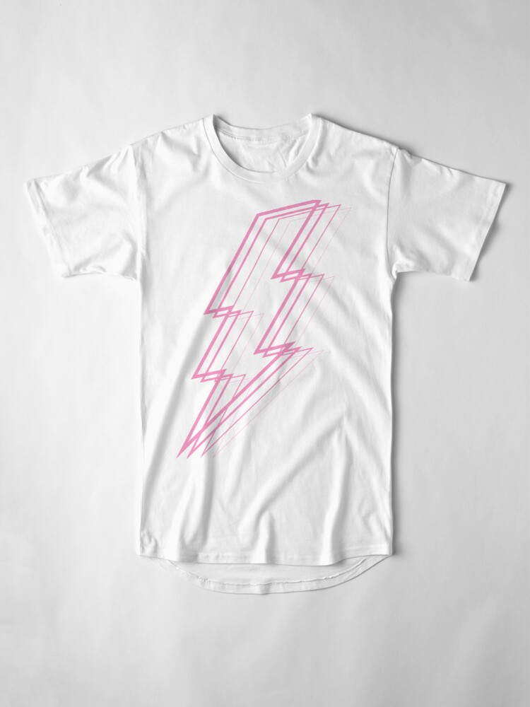 Alternate view of Pink Lightning Long T-Shirt