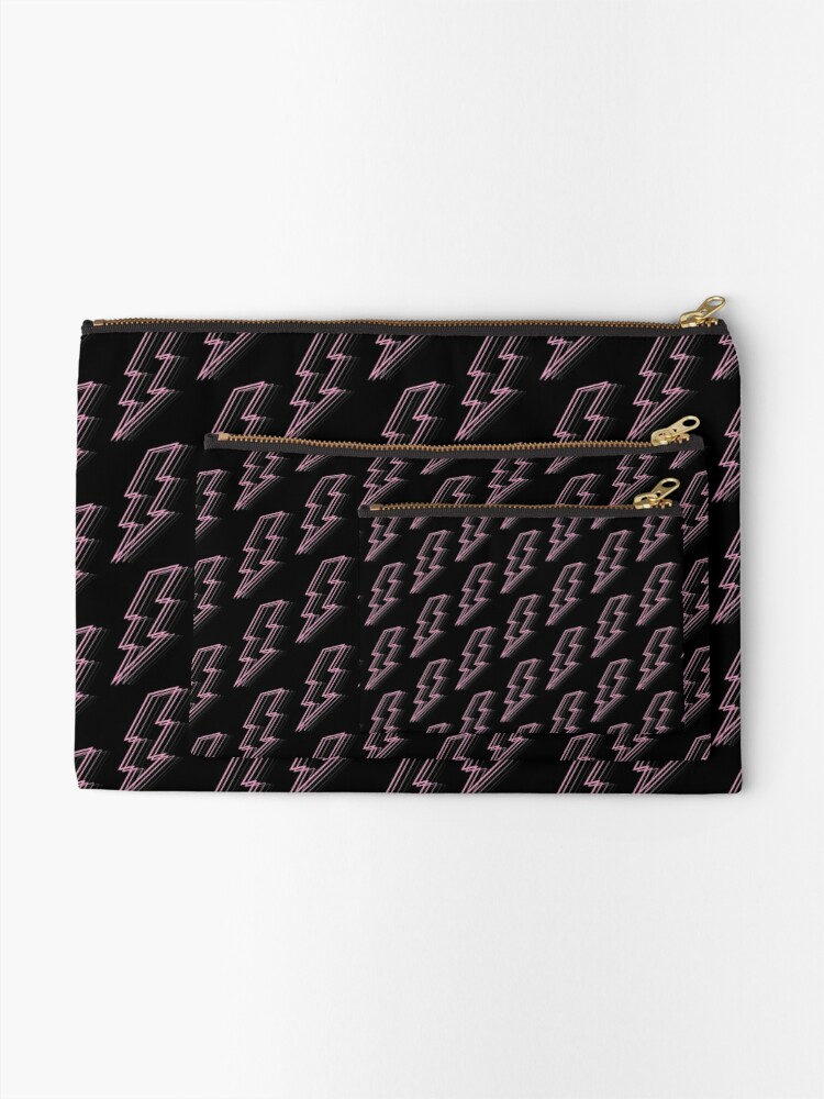 Alternate view of Pink Lightning Zipper Pouch