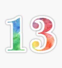 rainbow watercolor 13 Sticker