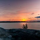 Sunset in Hietaranta Helsinki view by DoubleArchangel