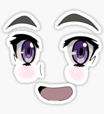 anime meme face stickers redbubble