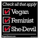 Vegan Feminist She-Devil by VeganStreet