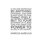 If you are distressed by anything external, the pain is not due to the thing itself, but to your estimate of it; and this you have the power to revoke at any moment - Marcus Aurelius by IdeasForArtists