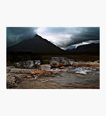 Menacing Moments At Glen Coe. Photographic Print