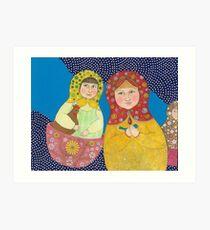 Matroushka nieces Art Print