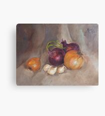 Onions & Garlic Canvas Print