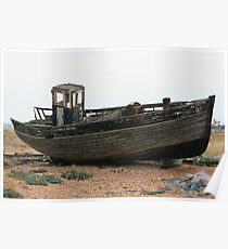 Dungeness - Old Wrecked Boat Poster