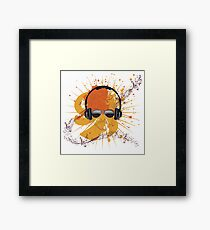 Male Dj Illustration Framed Print
