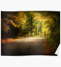 Autumn Lane • Door County Poster
