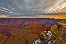 Grand Canyon National Park Sunrise and Snow by photosbyflood
