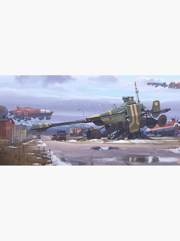 Shipyard by simonstalenhag