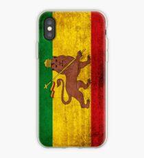 Vintage Rasta Flagge iPhone-Hülle & Cover
