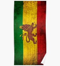 Vintage Rasta Flag Poster