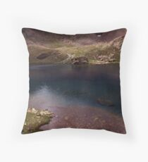 Dull lake near Baborte Peak Throw Pillow