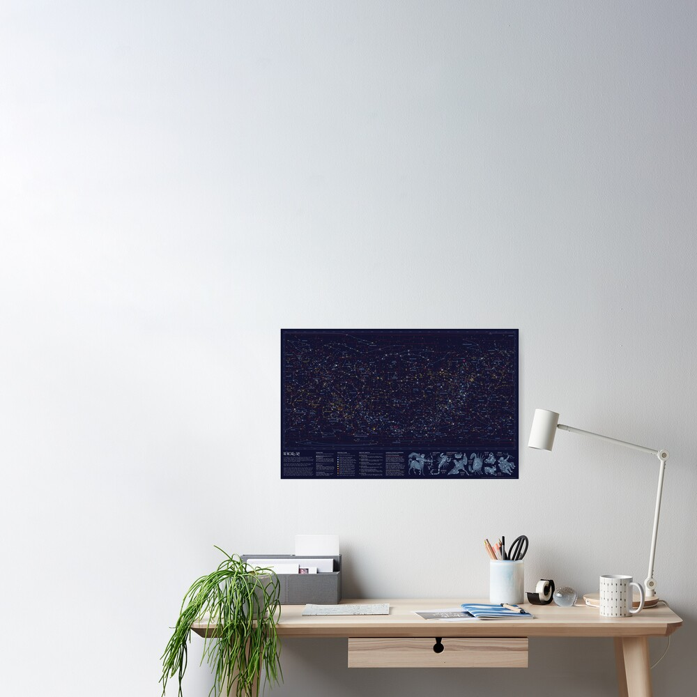 All the stars you can see from Earth Poster