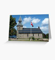 Gudhjem Church, Bornholm, Denmark Greeting Card