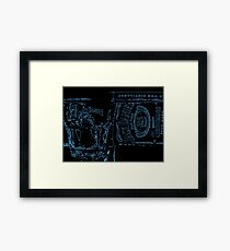 Neon JD Whiskey Framed Print