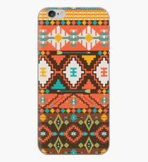 Aztec geometric seamless  colorful pattern iPhone Case