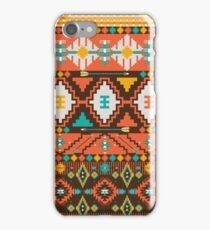 Aztec geometric seamless  colorful pattern iPhone Case/Skin