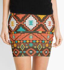 Aztec geometric seamless  colorful pattern Mini Skirt