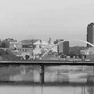 Des Moines Iowa in Gray by Meigel Art