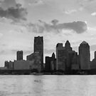 Detroit, Michigan in Gray by Meigel Art